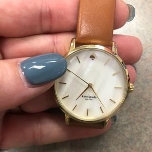 Beautiful Kate Spade pearl face leather watch